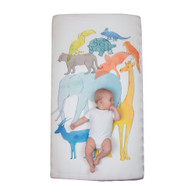 Weegoamigo  WOW Cot Fitted Sheet - Animal Stack