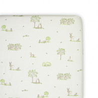 The Little Linen Company Australia  Cot  Fitted Sheet - Wild Woods