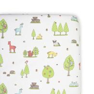 Weegoamigo  Large Cradle Fitted Sheet - Forest Friend