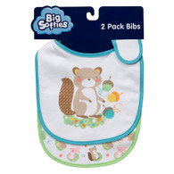 Big Softies 2 pack Bibs with side closure – Squirrel