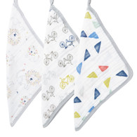 aden + anais 'scrub' 3-pack washcloth set - leader of the pack