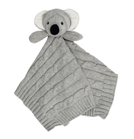 Living Textiles Cable Knit Security Blanket - Koala