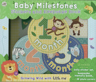 Little Me Baby Milestones Stickers and Keepsake Book