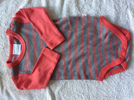 Marquise 2 Pack Bodysuits: Grey Marle /Red stripes
