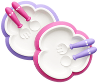 Baby Bjorn Baby Plate, Spoon and Fork, 2 sets - Pink & Lilac