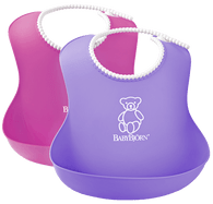 BabyBjorn Soft bib, Set of 2 - Pink & Lilac