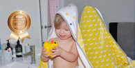 Little Turtle Baby Hooded Towel - Yellow