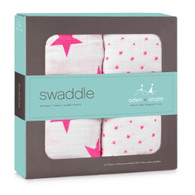 aden + anais Classic Swaddle, 2 Pack Fluro Pink