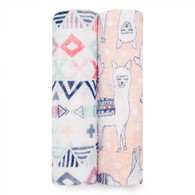 aden + anais Classic Swaddle, 2 Pack Trail Blooms