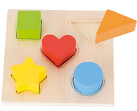 Goki Sorting board shape puzzle- wooden