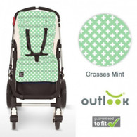 Outlook Travel  Universal Cotton Pram Liner - Mint Corosses