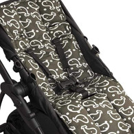 Outlook Travel  Universal Cotton Pram Liner - Charcoal Whales