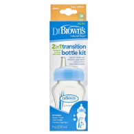 Dr Brown's 2in1 Narrow Neck 270ml Options Bottle - TRANSITION KIT