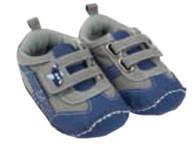 Playette Flex-fit Baby Shoe / Velcro Strap  / Blue