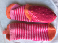 Playette Sock/ Slipper/ Toddler / Strippy Pink