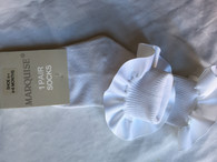 Marquise Frilly White Cotten Sock