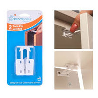 Dreambaby - 2x Twin Pin latches - Cabinet and drawer latches