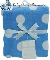 Living Textiles Blanket - Blue with white spot