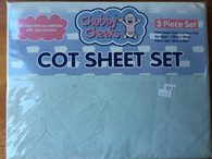 Chubby Cheeks 3 peice COT sheet set - pastel Green
