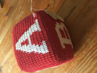 ABC knitted Cube - Red