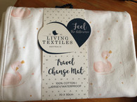 Living Textiles Travel Change Mat - Jersey Swans