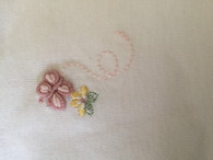 Marquise 2 pack singlets SIZE: 0000, 1x pink, 1x embroidered Butterfly