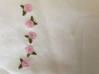 Marquise 3 pack singlets. SIZE: 0000. 1x pink, 1x white 1x embroidered roses