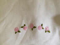 Marquise 3 pack singlets. SIZE: 000. 1x pink, 1x white 1x embroidered roses