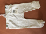 Marquise footed legging 1x white Size 00