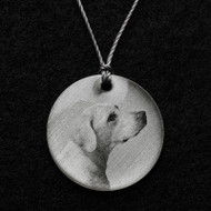 Yellow Labrador Retriever Pendant Necklace