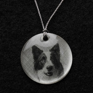 Border Collie Pendant Necklace