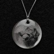 Golden Retriever with Ball Pendant Necklace