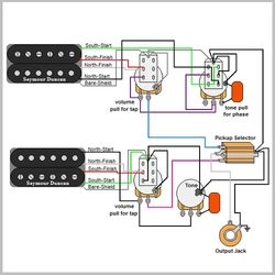 Guitar Wiring Diagrams & Resources | GuitarElectronics.com on pickup safety diagrams, pickup wiring push pull backwards, pickup schematics, pickup wiring strats for 50 s, pickup wiring ibanez evolution,