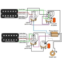 guitar wiring diagrams 1 humbucker 1 volume 1 tone. Black Bedroom Furniture Sets. Home Design Ideas