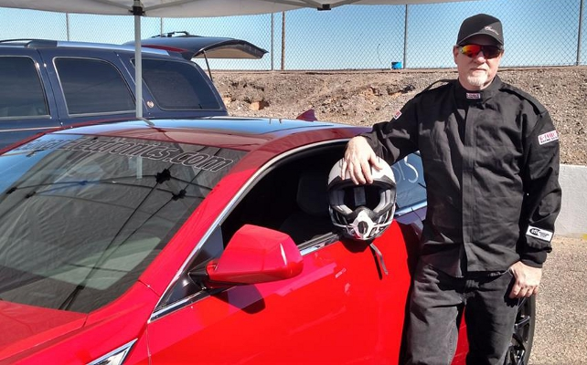 Driver Rob James with the GuitarElectronics.com CTS-V