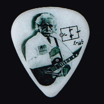 Guitar Electronics Einstein Logo Guitar Pick-Medium Gauge .88mm