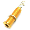 """Gold Switchcraft 1/4"""" Stereo Long Reach Jack Front"""