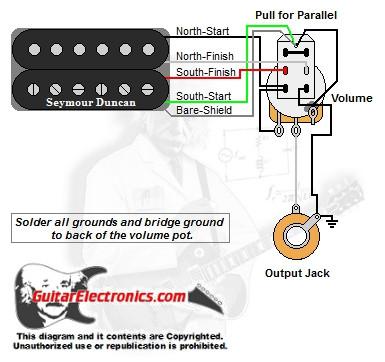 1 humbucker 1 volume series parallel series battery wiring diagram series parallel guitar wiring diagrams #47