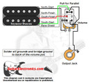 1 Humbucker/1 Volume/Series-Parallel