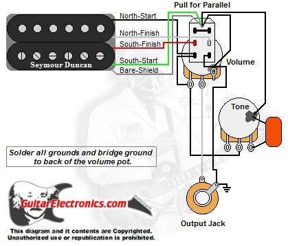 1 humbucker 1 volume 1 tone series parallel  1 humbucker 1 volume 1 tone series parallel click to enlarge