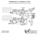 2 Humbuckers/3-Way Lever Switch/2 Volumes/1 Tone/Series Parallel