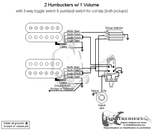 2 Humbuckers/3-Way Toggle Switch/1 Volume/Coil Tap North on dual voice coil wiring diagram, les paul junior wiring-diagram, goodman mini split wiring-diagram, dimarzio super distortion wiring-diagram, dragonfire pickups wiring-diagram, guitar pickups hss wiring-diagram, seymour duncan liberator wiring-diagram, dual humbuckers passive, seymour duncan p-rails wiring-diagram, seymour duncan blackouts wiring-diagram, hss coil split wiring-diagram, stratocaster wiring-diagram, les paul 50s wiring-diagram, coil tap wiring-diagram, les paul jr wiring-diagram, lg ductless wiring-diagram, telecaster wiring-diagram,