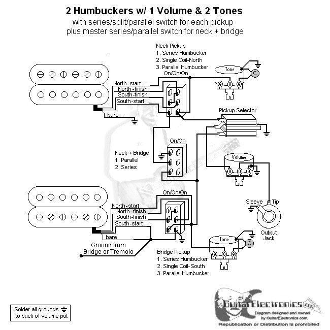 Humbucker Series Parallel Wiring Diagrams on tele wiring diagrams, 12 volt 4 pin relay wiring diagrams, single phase motor wiring diagrams,