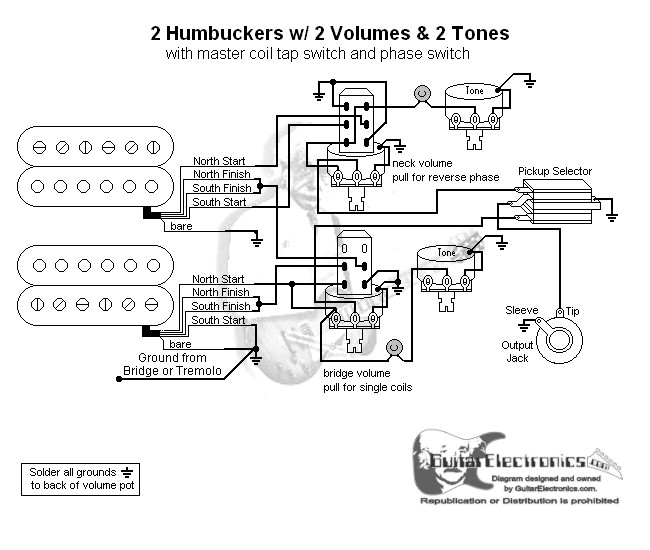 2 hbs 3 way toggle 2 vol 2 tones coil tap \u0026 reverse phase 3 Way Switch Wiring Diagram click to enlarge
