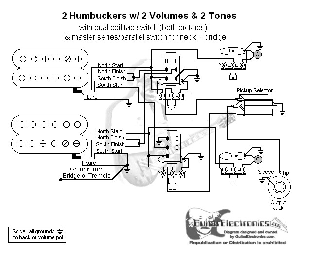 2 hbs 3 way toggle 2 vol 2 tones coil tap \u0026 series parallelclick to enlarge