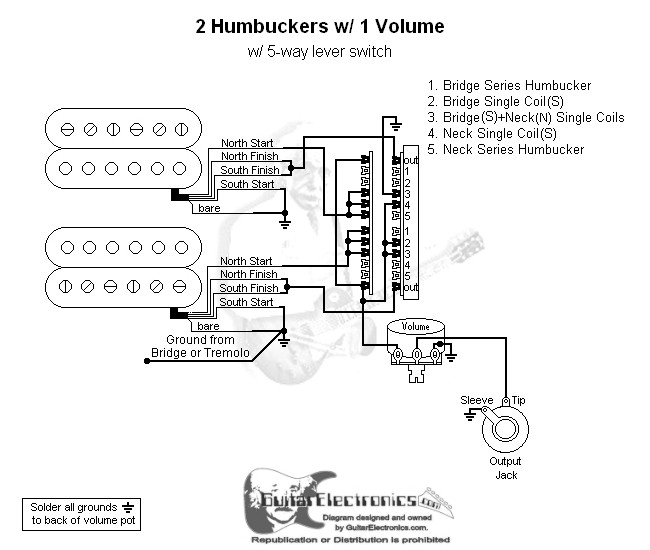 2 Humbuckers/5-Way Lever Switch/1 Volume/00 on 4 pole ignition switch, 4 pole motor, 4 pole cable, 4 pole lighting diagram, 4 pin connector diagram, 4 pin trailer plug diagram, 4 pole relay diagram, 4 pole alternator, 4 pole transfer switch, utility pole diagram, 4 pole plug, 4 pole generator,