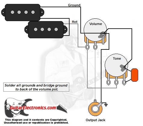 bass guitar wiring