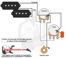 P-Bass Style Wiring Diagram