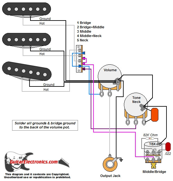 strat w tbx tone control Fender Stratocaster Wiring Modifications strat w tbx tone control click to enlarge