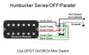 Humbucker Series/OFF/Parallel